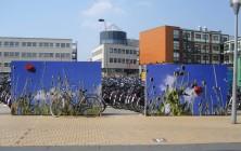 Panelen tijdelijke fietsenstalling station